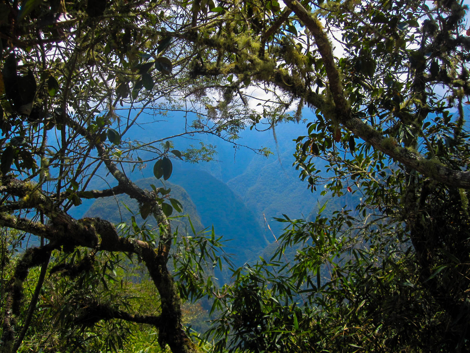 View between Machu Picchu & Huaynapicchu